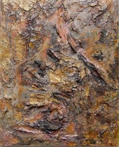 ENTRAILLES - 33x41 cm - Techniques mixtes sur toile