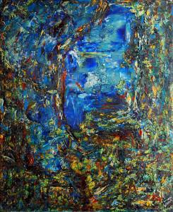 ABYSSE - 60x73 cm - Techniques mixtes sur toile