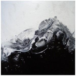 AU DELA DE LA NUIT 4 - 40x40 cm - Acrylique sur toile