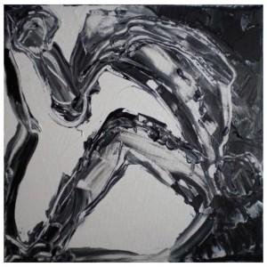 AU DELA DE LA NUIT 5 - 40x40 cm - Acrylique sur toile