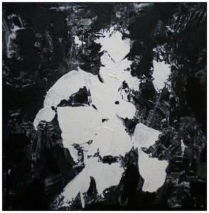 AU DELA DE LA NUIT 6 - 40x40 cm - Acrylique sur toile
