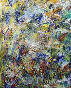 BRISE LEGERE 3 - 50x70 cm - Acrylique techniques mixtes marouflé