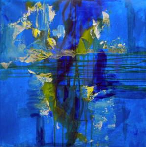 CHEMIN DE TRAVERSE 9 - 60x60 cm - Encres et acryliques sur toile