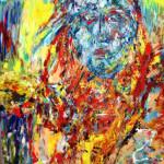 MANOUCHE - 97x130 cm - Huile sur toile