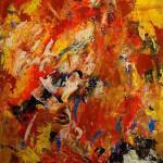 MATIERE 3 - 50x61 cm - Acrylique sur toile techniques mixtes