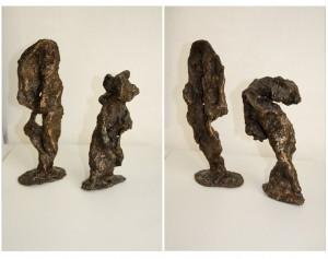 PERSISTANCES - Bronze (cire perdue) - H27xL20 cm - Poids 4 kg
