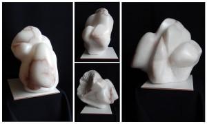 SERENITY - Albâtre - 43x30x26 cm - 13 kg