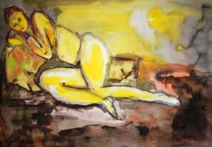 SERIE JAUNE 3 - 51x37 cm - Encre sur papier