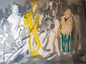 SERIE JAUNE 7 - 36x26 cm - Encre sur papier