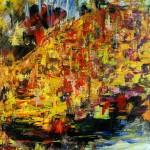 ENTRE DEUX RIVES - 38x46 cm - Acrylique sur toile