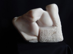 MOTHER AND CHILD - Stéatite - 20x28x11 cm - 7 kg