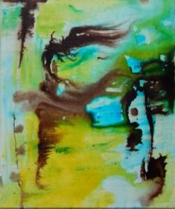 SONORITE 3 - 25x30 cm - Encre sur toile