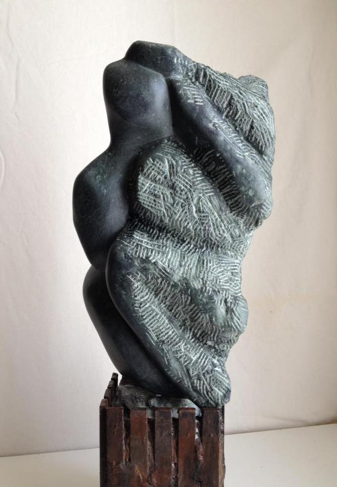THE NATURAL SPIRIT - Pierre serpentine, socle bois