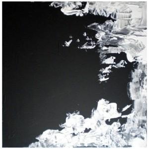 AU DELA DE LA NUIT 2 - 40x40 cm - Acrylique sur toile