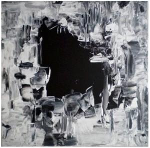 AU DELA DE LA NUIT 3 - 40x40 cm - Acrylique sur toile