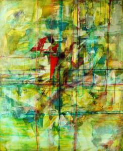 CHEMIN DE TRAVERSE 1 - 81x100 cm - Encres et acryliques sur toile
