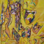 CORPS MORCELES - 80x100 cm - Huile sur toile