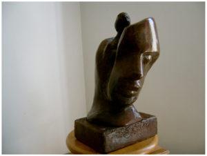 INSIDE MAN - Plâtre armé patiné - H45 cm - 4,5 kg