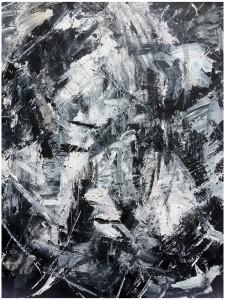 OMBRAGE D'UN CIEL D'ETE - 60x73 cm - Techniques mixtes sur toile
