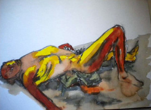 SERIE JAUNE 1 - 36x26 cm - Encre sur papier