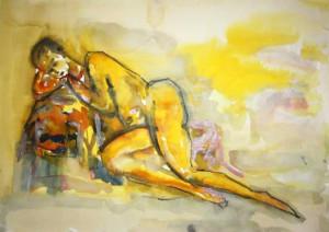 SERIE JAUNE 4 - 51x37 cm - Encre sur papier