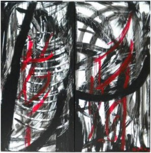 THE LAST - 50x100 cm (Dyptique 100x100 cm) - Encre sur toile