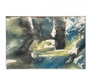 Gravure sur bois, monotype. Titre : En attendant Godot 3