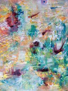 REGARD CROISE 1 - 60x73 cm - Techniques mixtes sur toile