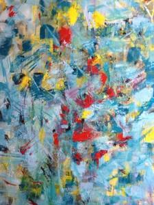 REGARD CROISE 3 - 65x91 cm - Acrylique sur toile