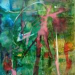 SERIE LUMIERES 5 - 25x30 cm - Encre sur toile