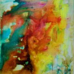 SONORITE 1 - 25x30 cm - Encre sur toile