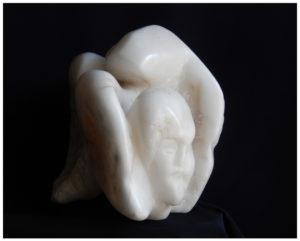 ANONYMUS - Albâtre - 43x30x26 cm - Poids19 kg